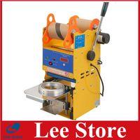 Wholesale Hot sale manual Plastic paper Cup sealing machine digital bubble tea sealing machine for milktea shop