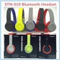 Wholesale HOT STN Stereo Wireless Headphone Headsets Noise cancelling Bluetooth DJ Headphones STN019 High Performance Headphones With FM TF MIC