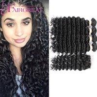 Deep Wave Lace Frontal con 4 bultos Extensiones brasileñas del cabello humano 7A Brazalete humano brasileño con cierre de encaje (4 * 4) Natural Color