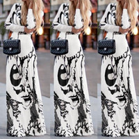 Wholesale 2017 Spring Suit dress Long Sleeve Longuette Printing Dress Evening The New listing Arrivals Hot
