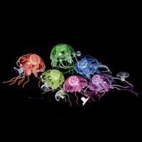 Wholesale Lovely Silicone Mini Size Jellyfish Style Swim Glowing Effect Fish Tank Aquarium Decoration Accessories On Big Sale