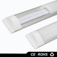 Precio de Montaje en el techo accesorios de iluminación-Nueva superficie montada LED Batten Tubos luces de doble fila T8 LED tri-proof Lámparas 1ft 2 pies 3 pies 4 pies 40W T8 LED tubo luces fijación techo