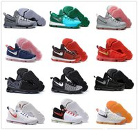 2017 Hot Sale KD 9 Chaussures de basket-ball pour hommes KD9 Oreo Loup gris Kevin Durant Sports pour hommes Sports Sneakers Warriors Accueil US Taille 7-12