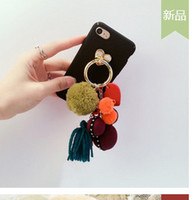 Wholesale Rabbit hair bulb tower accessories fashion leather handbags accessories plush key pendant maomao ball car accessories