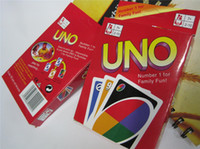 Wholesale Entertainment Card Games UNO cards Fun Poker Playing Cards Family Funny Board Games Standard DHL sets