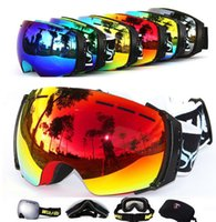 Wholesale Professional Ski Goggles Double UV400 Anti fog Snowboarding Glasses Snow UV Protection Snowboard Goggle Men Woman Skiing Goggles Eyewear