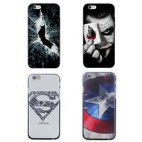 al por mayor el hombre araña teléfono móvil-Hulk Batman Joker Coque Iron Man Capitán Spider-Man Fundas para teléfonos móviles Fundas para Apple iPhone 7 7Plus 6 6S Plus 5c 5 5S SE 4 4s Funda