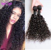 El pelo humano virginal brasileño del grado 8A empaqueta el pelo humano indio malasio peruano de la onda de agua del pelo de la onda 100 el pelo humano natural 8 ~ 30 pulgadas puede ser teñido