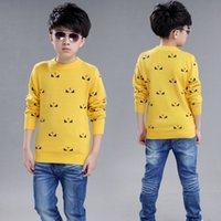 Wholesale Children S Animal Sweater Coats - 2016 the new boy's autumn winter sweater head children cotton knitwear cuhk children round collar with thick coat