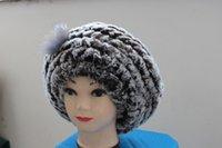 Casquillo verdadero termal del casquillo del sombrero del invierno del sombrero de la boina de las mujeres reales del sombrero de pieles de las ventas al por mayor-libres