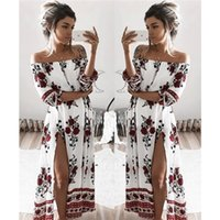 amazon woman - 2017 early spring selling eBay Amazon wish burst in the sleeve of a loose digital print word shoulder dress