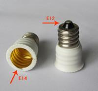 Brass E14 CE 10pcs  lot Black or white color Lamp Holder Converter Base adapter E12 to E14 Adapter US E12 to EUROPEAN E14 Candelabra Base Holder Socket