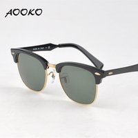 amber best - AOOKO Hot Retro Club Sunglasses Men Women Best Quality Designer Aluminum frame Glass Lens Master Mirror Sunglasses Lunettes Oculos de mm