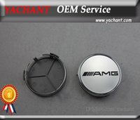 Wholesale Car accessories SET AMG Aluminum Wheel Center Hub Caps Cover mm Fit For A B C CLA AFFALTERBACH Logo