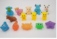 Wholesale 2017 High Quality Baby Bath Water Toy Sounds Mini Rubber Bath Small Toy Children Swiming Beach Gifts