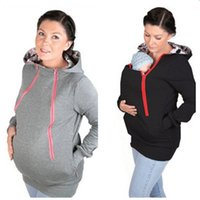 Wholesale New Maternity Carrier Baby Holder Jacket Baby Carrier Kangaroo jacket Maternity Warm Fleece Hoodie Baby Wearing Maternity Outerwear Coats