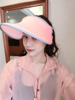 Wholesale The new fashion and beautiful in summer Outdoor sun hat Uv sunscreen cap Telescopic beauty white hat