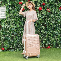 Wholesale Women Rolling Luggage Fashion ABS Solid Color Travel Suitcase Password Valise Boarding Suitcase Travel Box color EC