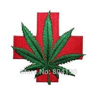 al por mayor hippie retro-El remiendo médico de la hoja del pote del remiendo médico de la hoja remata el envío libre al por mayor del remiendo del remiendo del remiendo del hippie del boho del cáñamo