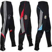 Wholesale 2016 Football training pants men accept legs and feet thin section in the spring autumn football running riding fitness pants
