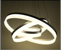 Wholesale Luxury Modern LED Circle Pandent Lamp droplight For Living Room Acrylic White RC Dimmable V V