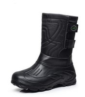 air tooling - Outdoor thickening and velvet men tube waterproof boots non slip comfortable snow boots tooling fishing boots boots to keep warm shoes