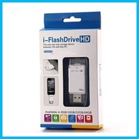 Wholesale 2017 G G G G USB i Flash Drive For i5 s S plus ipad Support Lightning Plug All Devices HD with G Usb Stick free ship