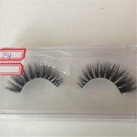 Wholesale Handmade Mink D Eyelash Full Strip Eyelashes Extensions With Custom Boxs Natural Long Terrier Fur Mink Hair Eyelashes