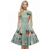 Wholesale New sleeveless posed the princess skirt Hepburn style restoring ancient ways is printing a tunic dress