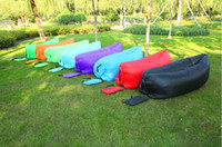 Wholesale Hot selling portable colors tylon inflatable Lamzac sofa bed for sleeping FEDEX DHL free drop shipping