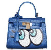 Wholesale 2017 new female bag big eyes sequins handbag female Messenger bag shoulder bag