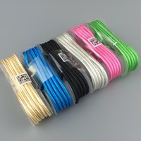 Wholesale 1 m V8 PIN Micro USB Cable Metal Nylon Braided Wire USB Charger Sync Data Cable for Samsung Galaxy Xiaomi HTC Sony Cell I Phones