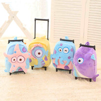 Valise à roues filles France-Baby Boys Girls Cartoon Trolley Sacs scolaires / Enfants 30 * 23CM Suitcase On Wheels / Kindergarten Cute Peluche Animal Lage Backpack