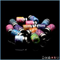 asia tips - snakeskin pattern resin drip tips fit ecigs rda atomizers Europe United States and Southeast Asia HOT Sale