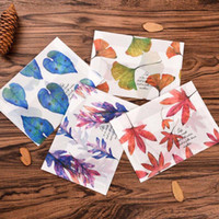 Wholesale 32 Romanic Maple Leaves Parchment Paper Envelope Semitransparent Letter Notes File Storage Paper Gift New Bag