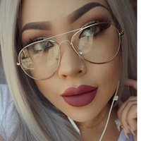 aviator glasses - Clear Glasses Myopia Clear Frame Glasses Women Men Spectacle Frame Clear Lens Optical Clear Aviator Glasses Lunette Transparent