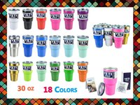 Wholesale 30oz Coolers Cups Rambler Tumbler Cup Beer Tumblerful Vacuum Insulated Stainless Steel cup Free Shipment