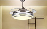 Wholesale Factory direct LED chip crystal pendant lamp fan living room lamp
