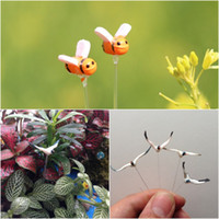 Wholesale Artificial DIY Resin Bees And Swan Fairy Garden Miniature Ornament Gnomes Moss Terrarium Craft Bonsai Micro landscape Decoration