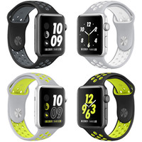Wholesale NK Hole Loops Replacement Silicone Wrist Bracelet Sport Band Strap For Apple Watch Series and Series Strap mm VS Fitbit Strap