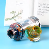 Wholesale Cleito Drip Tips Serpentine Pattern Epoxy resin Drip Tips Mouthpieces for Cleito Atomizer Tank Retail package DHL FREE