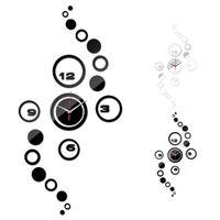 art hours - Home Livingroom Wall Clock D DIY Circle Pattern Stickers Hour Modern Mirror Design Art Watches