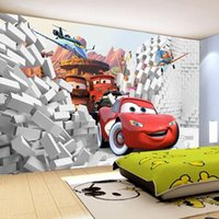 Wholesale Custom D Cars wall mural wallpaper papel de parede High quality Modern photo wall paper Decorative Wallpaper