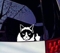 auto body supplies - 1pcsThe Cute Cartoon Funny Car Sticker cm cm Grumpy Cat Stickers Vehicle Supplies Auto Decals Automobile Accessories