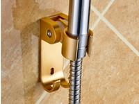 Metal Single Tier Aluminum A2 Bathroom Hardware Sprinkler seat suction type nozzle support free adjustable showerhead drilling bathroom shower hose fittings.