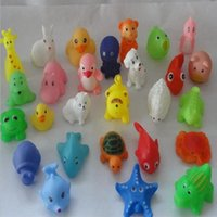 Wholesale Baby Bath Toys Water Floating Dolls Animal Cartoon Yellow Ducks Starfish Children Swiming Beach Rubber Toy Kids Gifts