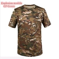Wholesale Men s Tops Slim Fit Compressio t shirt summer new o neck short sleeve t shirt men fashion brand fitness tshirt Army Tactical T shirt