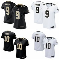 authentic saints jersey - Women New Orleans rugby jersey Saints Drew Brees Brandin Cooks Black White Soccer rugby authentic jerseys cheap t shirts