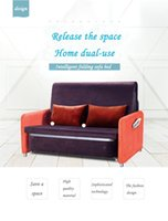 Wholesale The latest fashion of the single fold fashionable sitting room sofa bed Simple convenient and portable