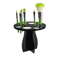 acrylic paper stand - Acrylic Makeup Eyeshadow Power Drying Brush Rack Organizer Holder Makeup Brushes Stand Storage rip off the paper of outside